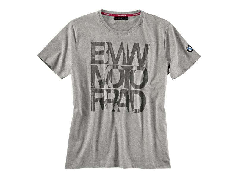 t shirt bmw gris logo pour homme jersey coton boutique. Black Bedroom Furniture Sets. Home Design Ideas