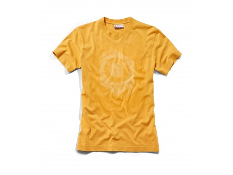 T-shirt Make Life a ride BMW Homme Jaune